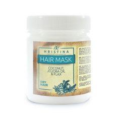 Маска за коса с масла от кокос, жожоба и лен 1