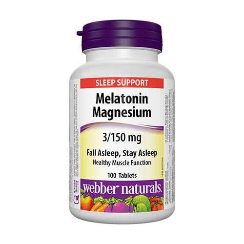 Мелатонин с магнезий - 100 таблетки
