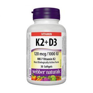 Витамини K2 + D3 - 30 дражета